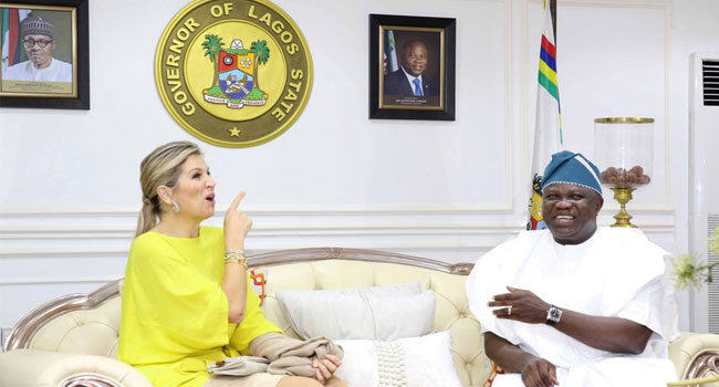 Visiting Netherlands Queen impressed with leadership quality and status of Lagos