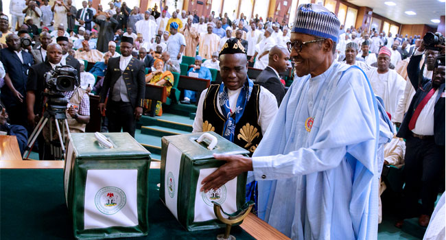 Buhari lays N8.612 trillion Appropriation Bill before National Assembly