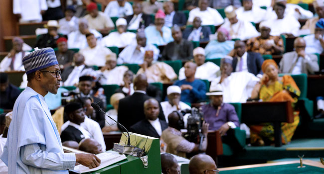 Buhari to National Assembly: Swiftly consider and pass the 2018 Appropriation Bill
