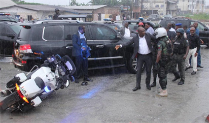 Amaechi's convoy hits my outrider and his policemen attacked us - Wike