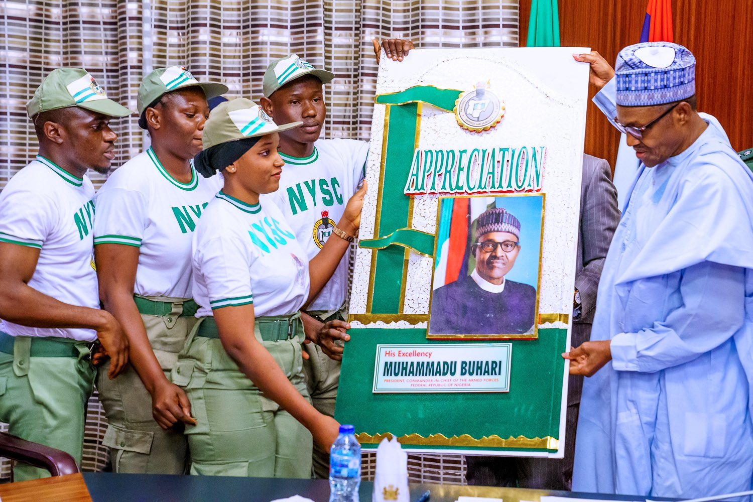 Pay Increase: You are a loving and caring father, NYSC members tell Buhari