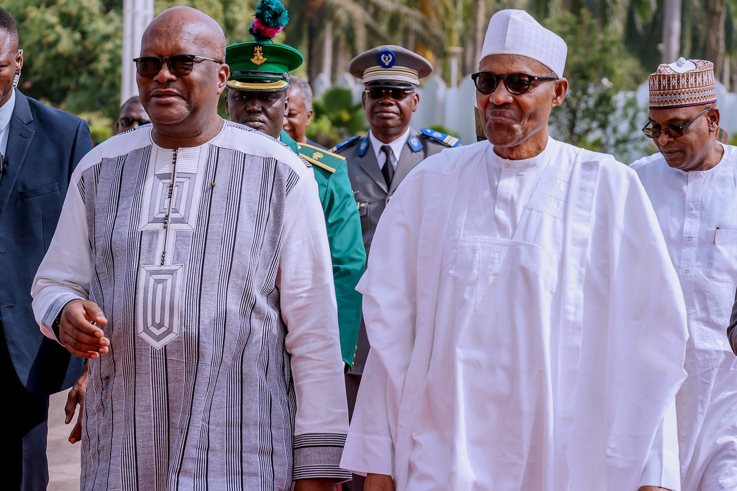 Why Nigeria's land borders remain closed, Buhari explains to Burkina Faso's leader