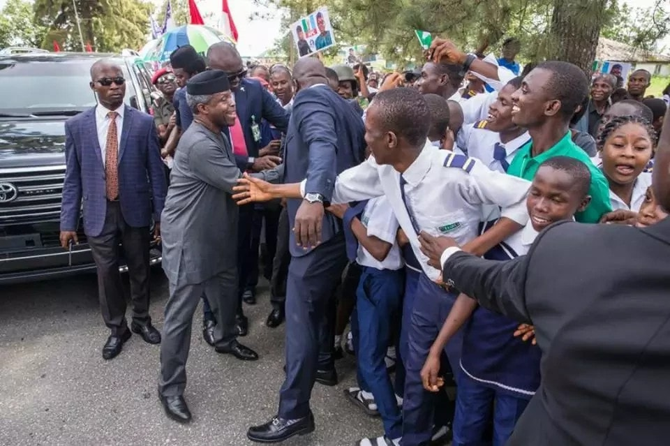 Osinbajo pats Ayade on the back for moving Cross River in the right direction