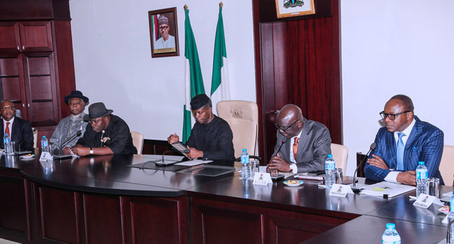 Our administration is committed to finishing whatever we start, says Osinbajo
