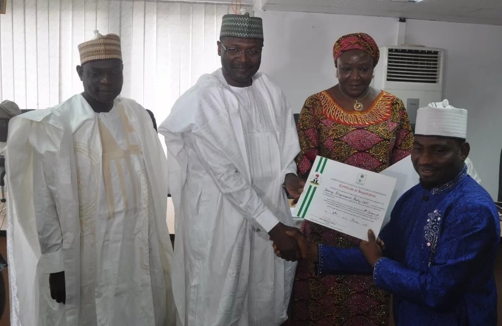 INEC issues certificates to new parties, warns them against politics of bitterness
