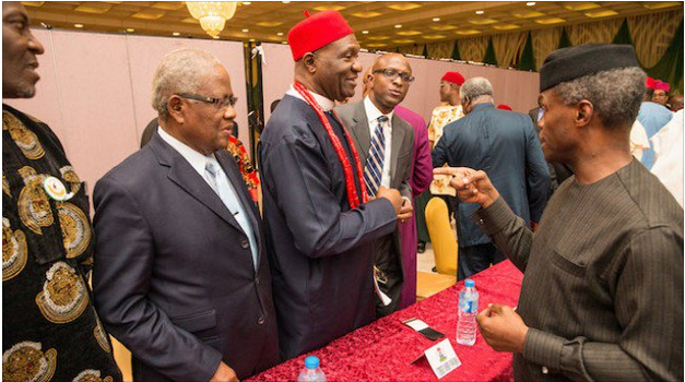 Those calling for Biafra before, now sing new tune after building palaces - Osinbajo