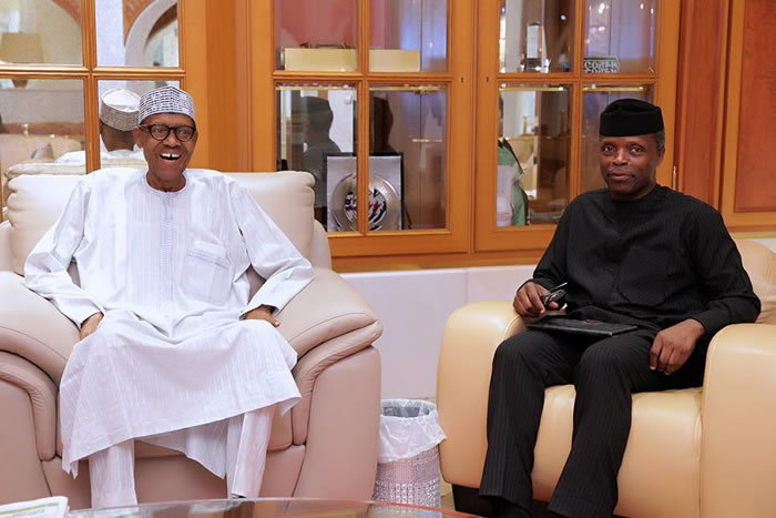 Buhari is in very high spirit, we should expect him back very shortly - Osinbajo