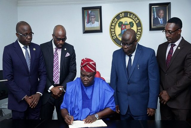 Ambode signs 2018 Lagos Budget into law, says focus is to complete all projects