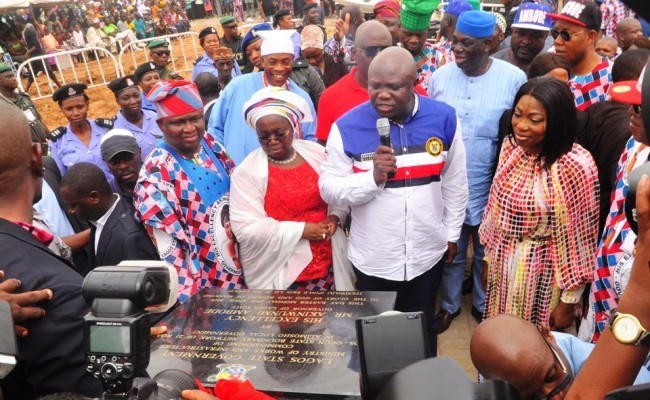 Ambode commissions two bridges, 19 roads around Lagos-Ogun boundary