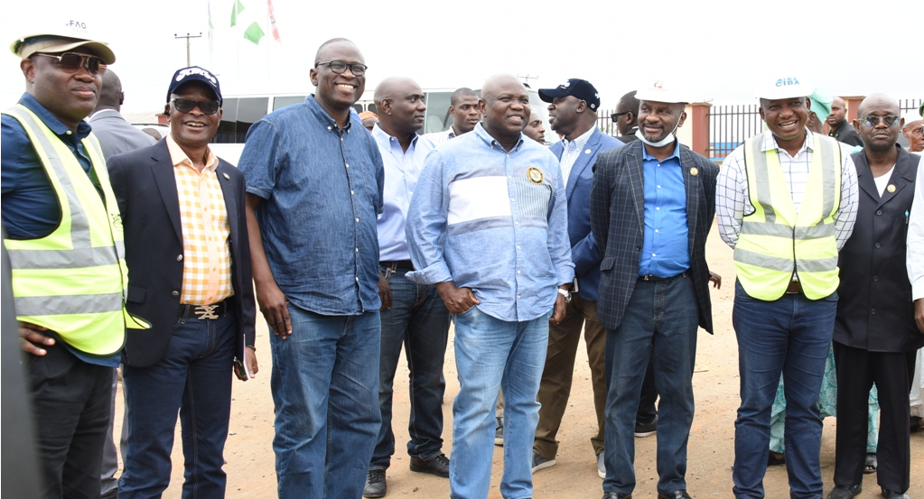 Ambode inspects Rice Mill and Industrial Park in Imota, Ikorodu