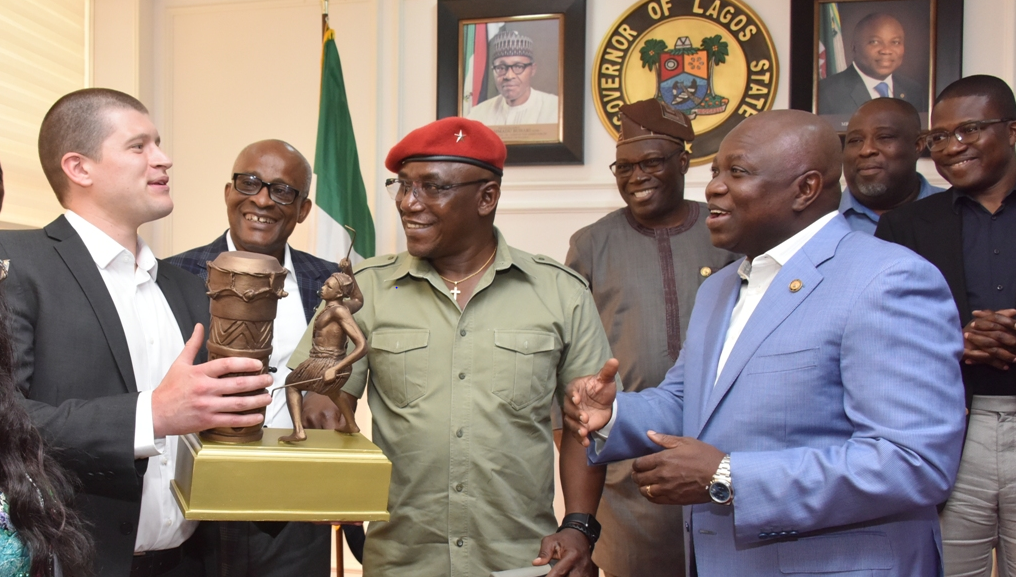 Ambode receives Minister of Youth and Sports with International Paralympics Committee at Lagos House