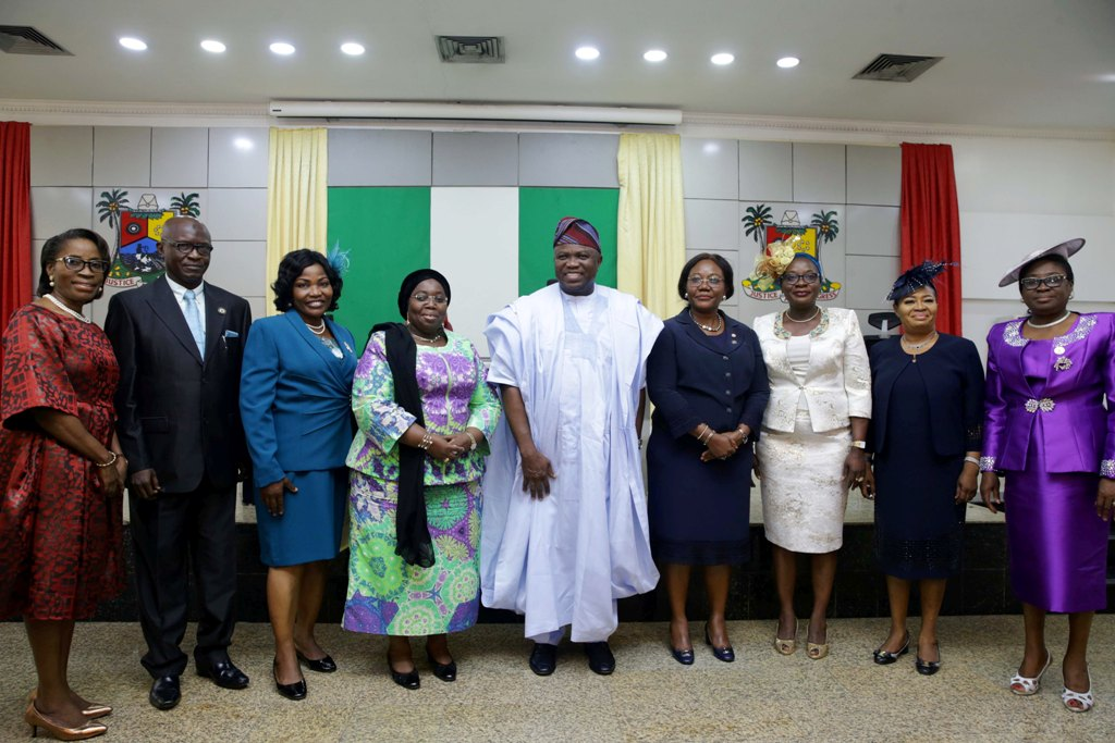 Ambode swears-in six new Permanent Secretaries, tells them to add value to governance