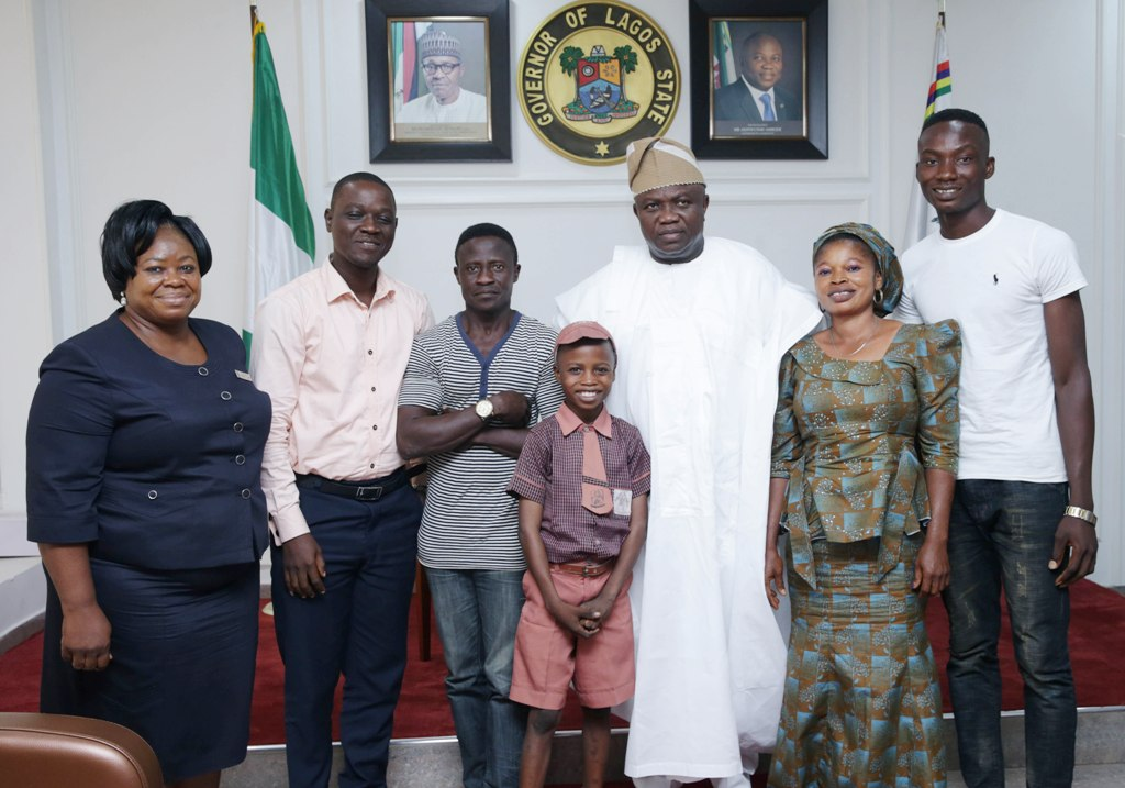 Ambode hosts 11-year-old hyperrealist artist, promises him educational support