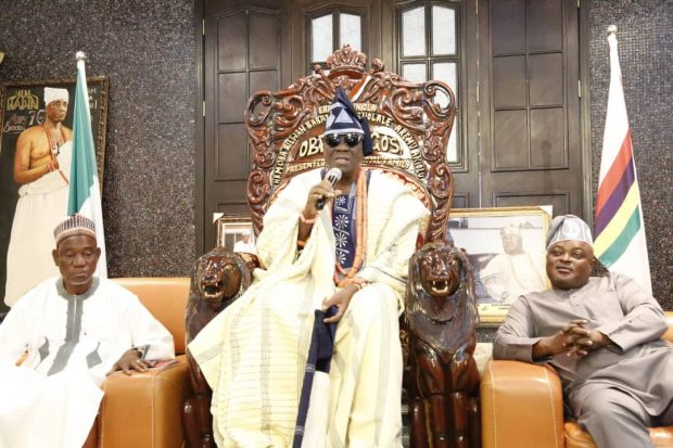 Unlike Obasanjo, others, Buhari is a non-materialistic leader, Lagos Monarch tells visiting Speakers