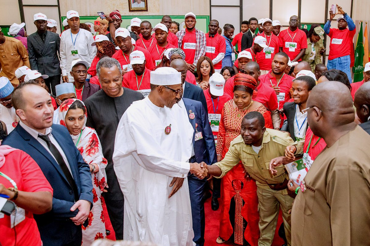 Winning the fight against corruption is very much in your hands, Buhari tells African youths