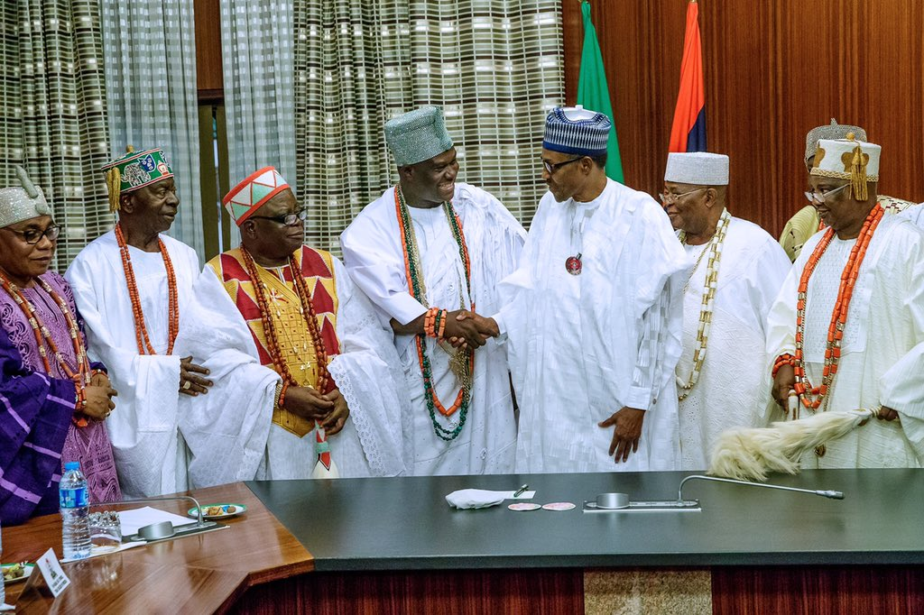 2019: We are determined to keep order, I hope Your Highnesses are on the same page with us, Buhari tells traditional rulers
