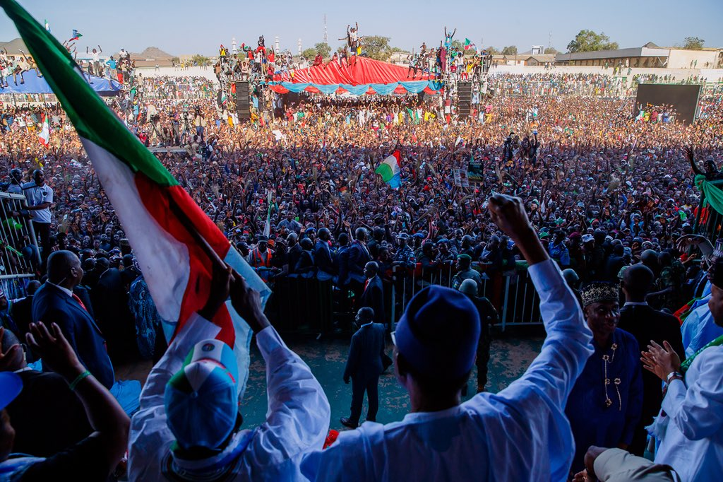 There were so many excited people that I did not get the chance to address you, Buhari tells Jos residents