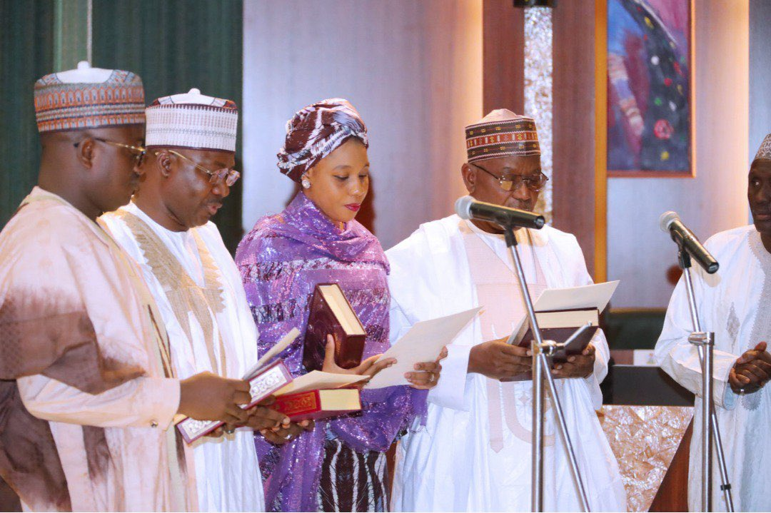 Buhari swears-in new ICPC Board, charges members to ensure that government Agencies account for revenue generated