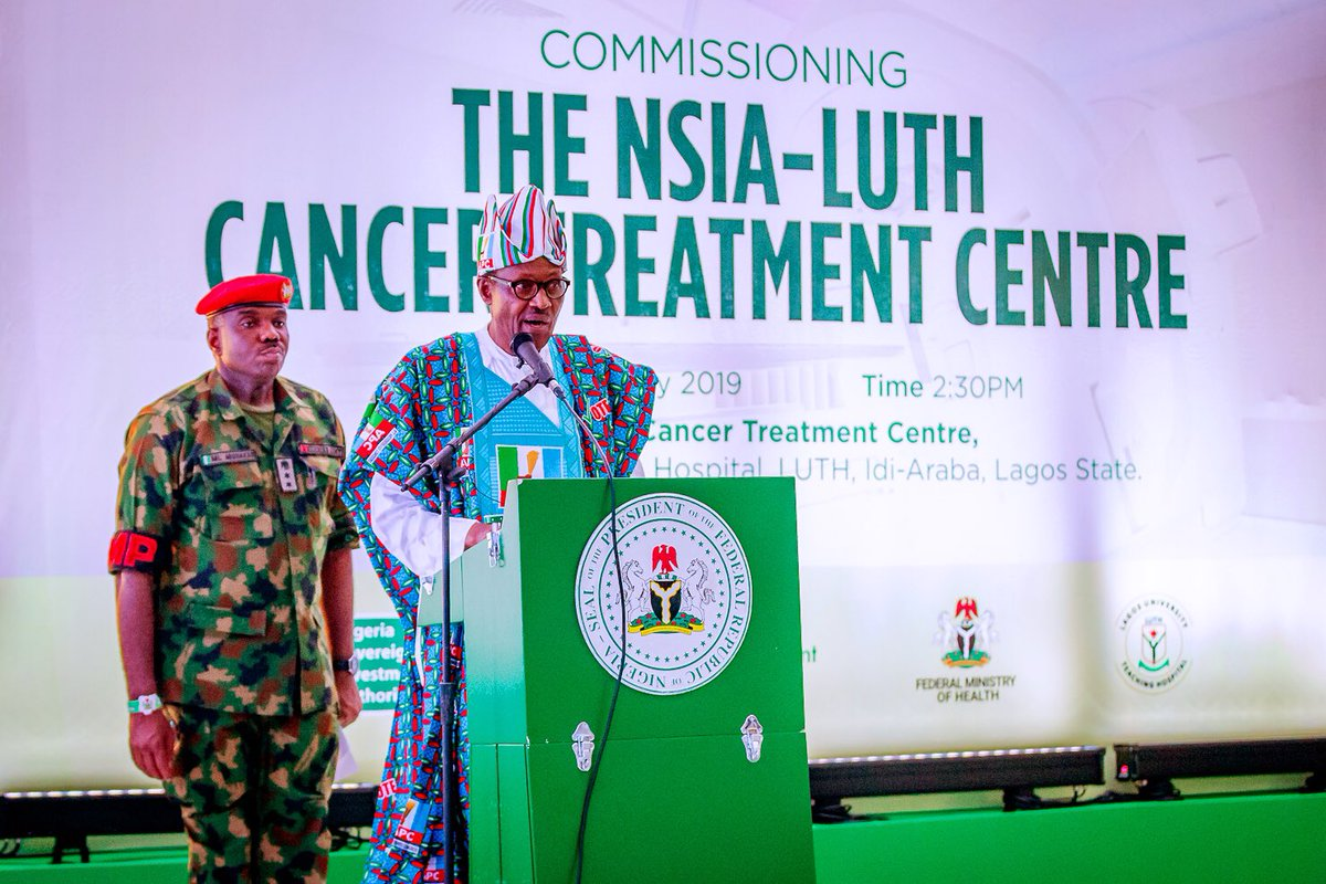 Buhari commissions cancer treatment Centre in Lagos, says 'we show what feats we can accomplish when we are together'