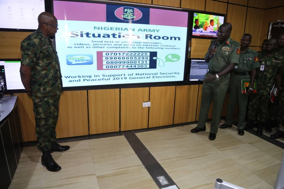2018 elections: Army inaugurates Situation Room, promises swift response to security breach