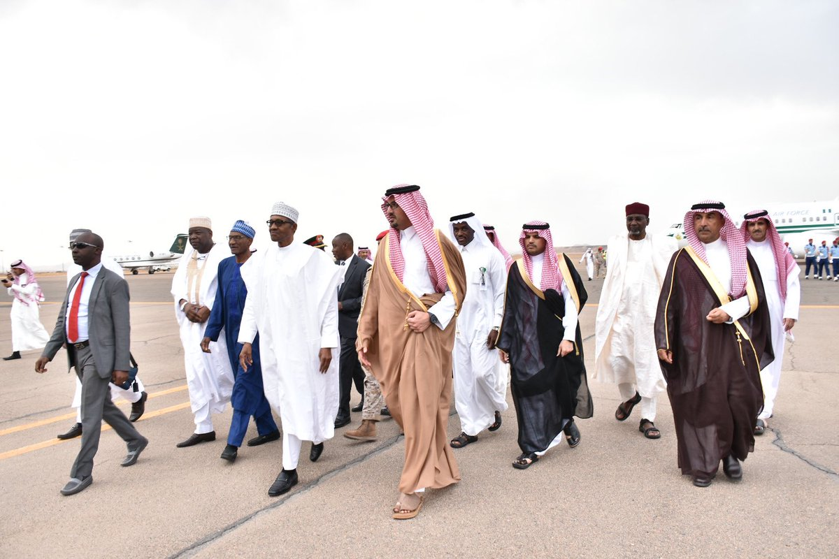 Buhari arrives Saudi Arabia as Osinbajo takes charge of extended FEC meeting