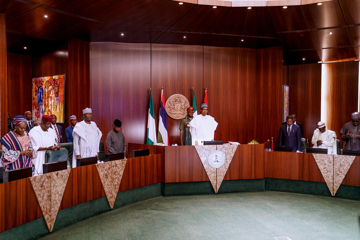 Buhari takes charge as extraordinary FEC meeting deliberates on 2020 Budget proposal