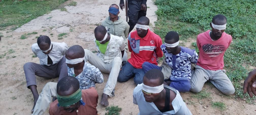 Hunger battered Boko Haram members surrender to Nigerian Army troops in Borno